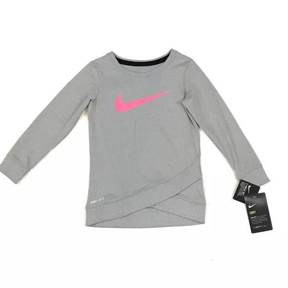 Nike Kid s Girl Dri-Fit Gray Pink Sweater 3T 2ce845ec5